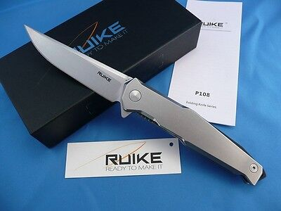 Couteau RUIKE P108 Stonewashed Stainless Steel Handle Lame 14C28N RKEP108SF
