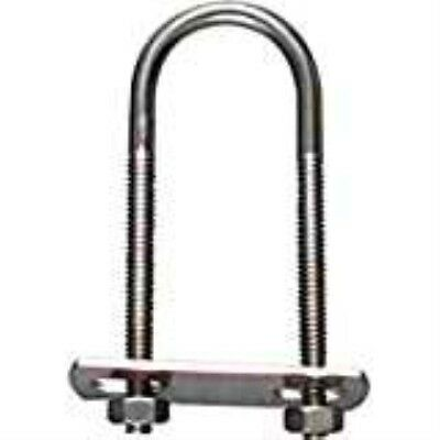 Stanley National Hardware 2190BC #882-1/2x4-1/2x7 Zinc Plated U Bolt w/Plate Architectural & Garden