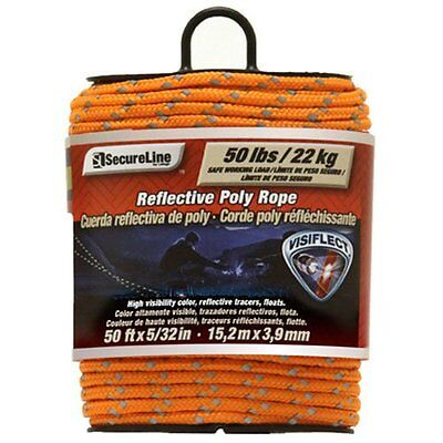 Lehigh RMFPO3250 5/32-Inch by 50-Feet Reflective Polypropylene Rope, Orange