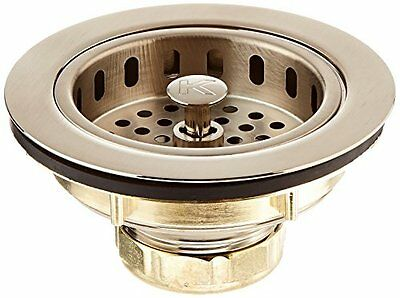 Keeney K5445DSBN Cast Brass Drop Post Sink Strainer Basket, Brushed Nickel
