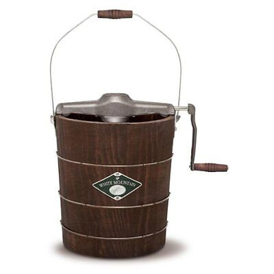 White Mountain-SHPAppalachianSeriesWoodenBucket4QUART HandCrankedIceCreamMaker