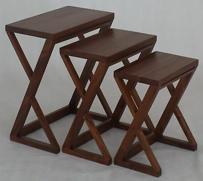 NEW 3 Piece Z Style Nest of Tables