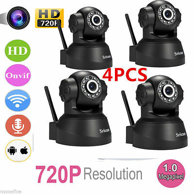 4 OEM Set of Sricam 720P Wireless IP Camera WiFi Security Night Vision Cam USA