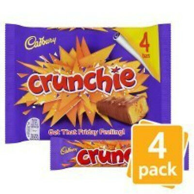 3 x 4 Pack Cadbury Crunchie Chocolate Bars 12 bars, (3 x 104.4g)