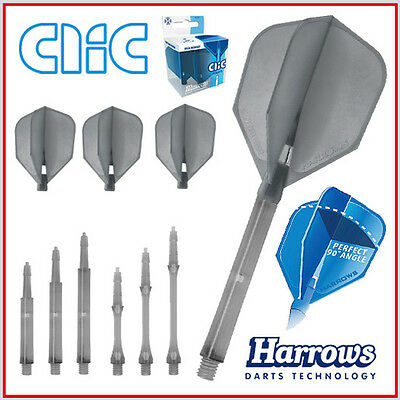 HARROWS CLIC SYSTEM 3 Flights & 3 Shafts in smokey als Set oder einzeln