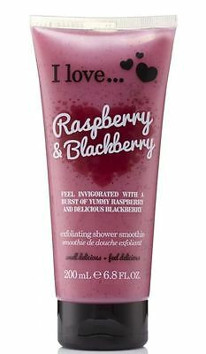 I Love Raspberry & Blackberry Exfoliating Shower Smoothie 200ml