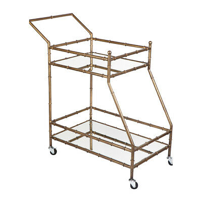 NEW Antique Gold Tansu Drinks Trolley
