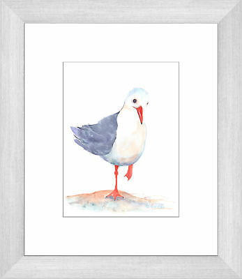 NEW Seagull Watercolour Two of Three Framed Print