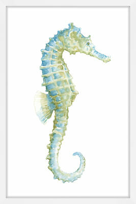 NEW Watercolor Seahorse Wall Art