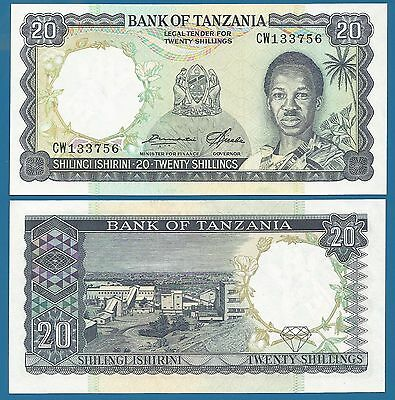 TANZANIA 20 Shillings 1966 P-3e UNC Uncirculated