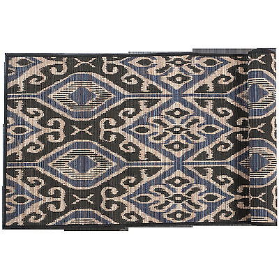 NEW Blue Ikat Motif Table Runner