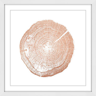 NEW Log Cutout Rose Gold Wall Art