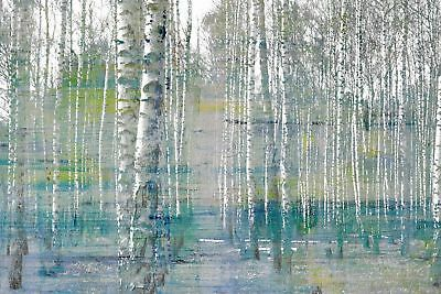 NEW Teal Tree Forest Canvas Wall Art
