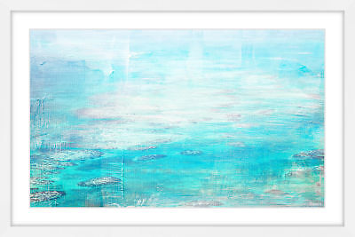 NEW White Surf Framed Print