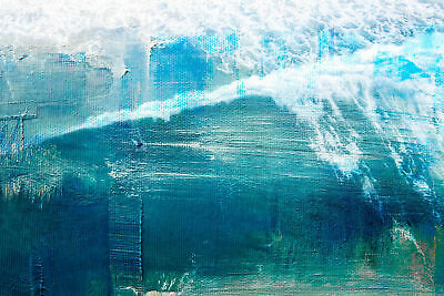 NEW White Splashing Surf Canvas Wall Art