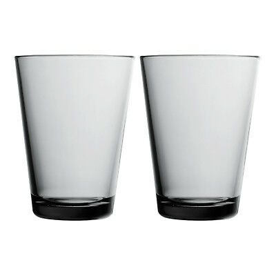 NEW Set of 2 Iittala Smoky Grey Kartio Highballs