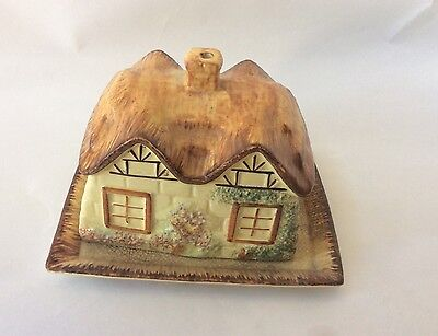 Antique Price English Cottage Ware Butter Or Cheese Dish Keele St. Pottery