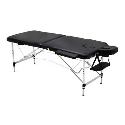 NEW Professional Black Aluminium Portable Massage Table