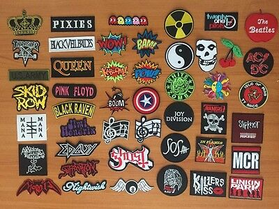 DIY Hard Metal Rock Punk Retro Music Band Sew Iron On Embroidered Patch Applique