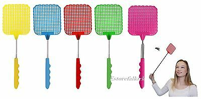 New Telescopic Insect Swat Extendable Fly Swatter Bug Mosquito Wasp Killer Flies
