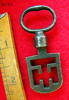 1800's Antique Odell Scottish Latch Skeleton Key - More Rare Old Odd Keys Here