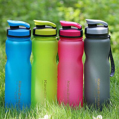 Outdoor Sport Camping Travel 600 1000ml Water Bottle Casual Silicon Straw Unisex