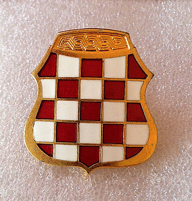 Herzeg Bosnia - Hvo -  War Time Soldier Cap Badge From 1991-1992
