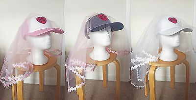 5ac242ea023be Funny Veil Cap Hen party Baseball Trucker hat Bride To Be Fancy dress Stag  do UK
