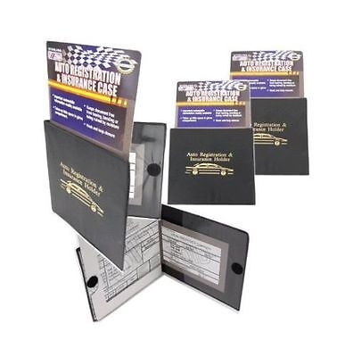 4 Auto Car Truck Registration Insurance Document Holder Wallet Case Id Card NEW