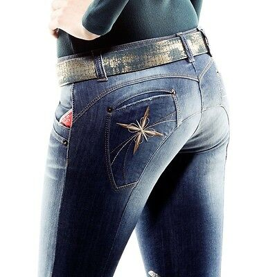 Animo NDenim Jean Breeches With Gripping I-40 uk8-10 US8 BN