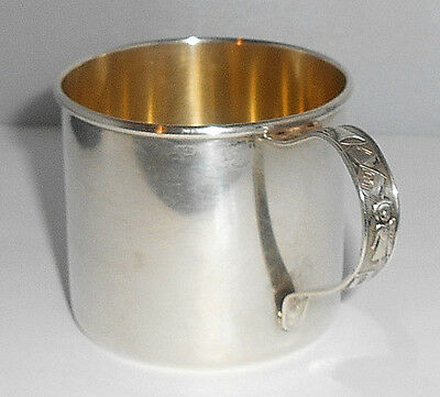 ANTIQUE CHILD'S STERLING SILVER MUG BY ROGERS LUNT BOWLEN USA c.1910