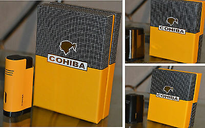 COHIBA Metal Pocket 3 Jet Flame Windproof Cigarette Cigar Lighter Punch ChildSaf