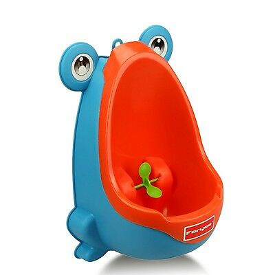 Foryee Cute Frog Potty Training Urinal for Boys with Funny Aiming Target Blue