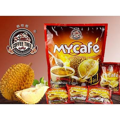 Penang Coffee Tree  DURIAN WHITE COFFEE 4 in 1 KOPI 15 Sachets x 40g 600g