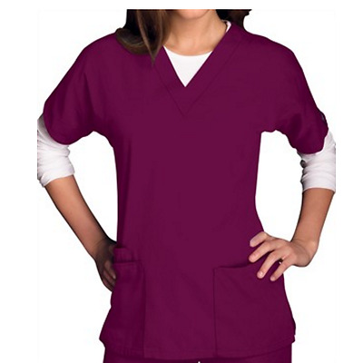 Cherokee Workwear Scrubs Women's Three Pocket Top 4700 Size XXS/XS NWT