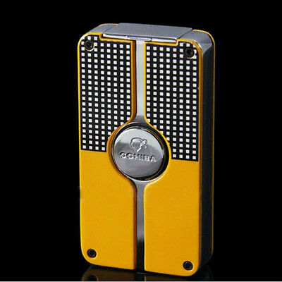 COHIBA Black Behike Classic 3 Torch Jet Flame Cigar Cgarette Lighter With Punch