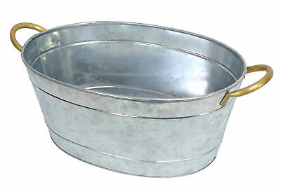 NEW Galvanized Silver Tub