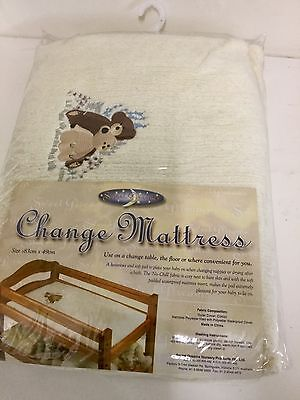 Sweet Dreams Baby Change Table Mat Mattress Cotton Soft Waterproof Insert Cream
