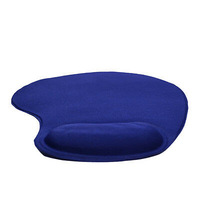 Blue Anti-Slip Comfort Mouse Mat Pad With Gel Foam Rest Wrist Support Pc Laptop