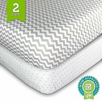Ziggy Baby Crib Sheets, Toddler Bedding Fitted Jersey Cotton (2 Pack)...