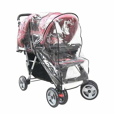 OTRMAX Tandem Stroller Weather Shield, Baby Buggy Rain Cover, Water Resistant,
