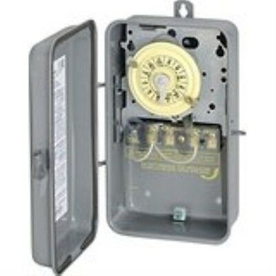 Intermatic T104R 208-277-Volt DPST 24 Hour Mechanical Time Switch with Outdoor C