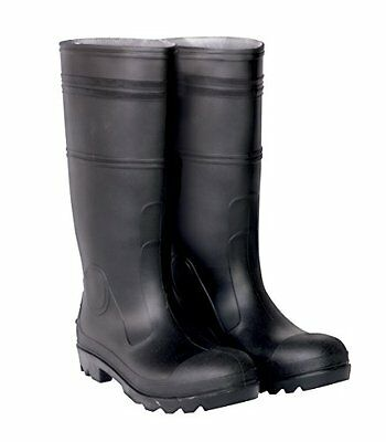 CLC Rain Wear R23013 Over The Sock Black PVC Men's Rain Boot, Size 13