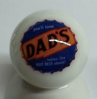 Very Nice Dad's Rootbeer Glass Marble