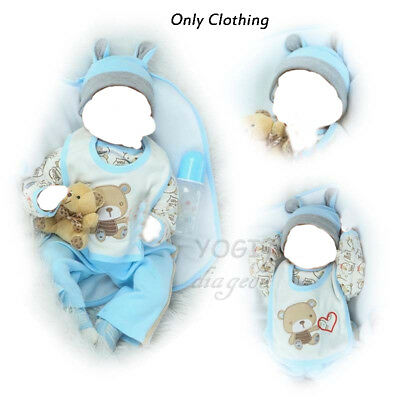 "20""-22"" Newborn Dolls Clothes Baby Boy Silicone Reborn Kit Accessories Replace"
