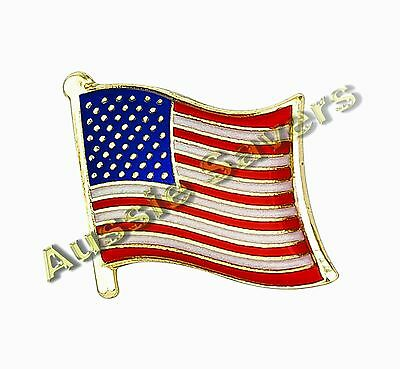 Usa (America) Flag Hat Pin / Badge / Brooch - Brand New