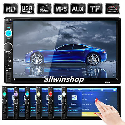 """NEWEST! 7"""" Double 2DIN Car MP5 MP3 Player Bluetooth Touch Screen Stereo Radio TN"""