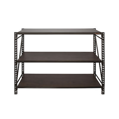 Heavy Duty Storage Rack 3 Level Adjustable Shelves Garage Steel Metal Shelf Unit