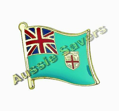 Fiji (Fijian) Flag Hat Pin / Badge - Brand New