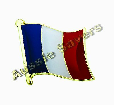 France (French) Flag Hat Pin / Badge - Brand New